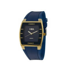 HEA SQUIRCLE UNISEX BLUE/GOLD RUBBER WATCH KHA2372-1213   image here