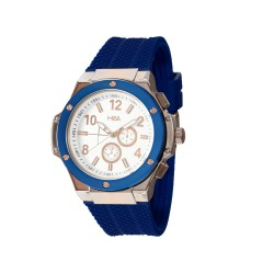 HEA ELLIOT UNISEX BLUE/ROSE GOLD RUBBER WATCH KHA2369-1412(BLUE)   image here