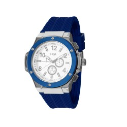 HEA ELLIOT UNISEX BLUE/WHITE RUBBER WATCH KHA2369-1103(BLUE)   image here