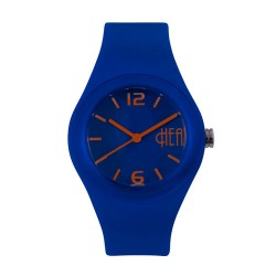 Hea Bubblegum Unisex Navy Blue/Orange Rubber Watch Kha1740-2008 image here