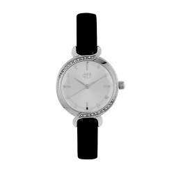 Hea Elgante Women's Black Leather Watch Kha1861-2001  image here