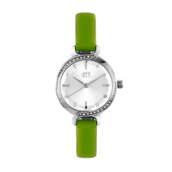 Hea Elgante Women's Green Leather Watch Kha1861-2006 image here