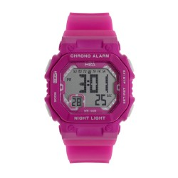 Hea Glaze Women's Pink/White Rubber Watch Kha2071-2001   image here