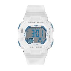 Hea Glaze Women's White/Blue Rubber Watch Kha2071-2003 image here