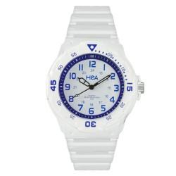 Hea U&Mi Men's White/Blue Rubber Watch Kha2221-1101 image here