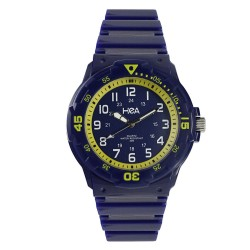 Hea U&Mi Men's Blue/Yellow Rubber Watch Kha2221-1105 image here