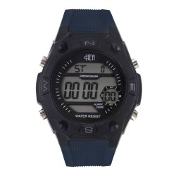 Hea Stride Unisex Blue/Black Rubber Watch Kha1781-1001 image here