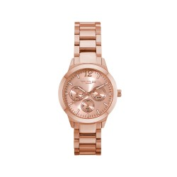 MOA ALLEGRETTO UNISEX ROSE GOLD / BROWN ANALOG STAINLESS STEEL WATCH KM1921-7507 image here