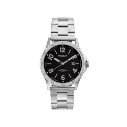 MOA ARMATURA-NUMERO MEN'S SILVER / BLACK ANALOG STAINLESS STEEL WATCH KM1629-1102  image here