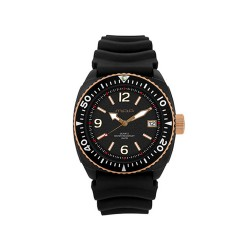 MOA STUCCO MEN'S BLACK ANALOG RUBBER STRAP WATCH KM984-1502  image here