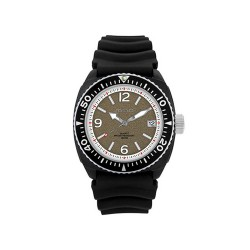 MOA STUCCO MEN'S BLACK / GREY ANALOG RUBBER STRAP WATCH KM984-1107   image here