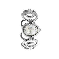MOA MARQUESA WOMEN'S SILVER / WHITE MOTHER-OF-PEARL ANALOG STAINLESS STEEL WATCH KM958-2108 image here