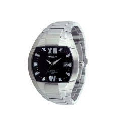 MOA CONTOUR MEN'S SILVER / BLACK ANALOG STAINLESS STEEL WATCH KM597-1102  image here