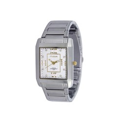 MOA BEAU MEN'S SILVER / WHITE / GOLD WHITE ANALOG STAINLESS STEEL WATCH KM684-1304 image here