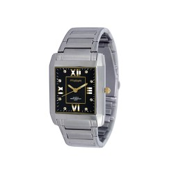 MOA BEAU MEN'S SILVER / BLACK / GOLD WHITE ANALOG STAINLESS STEEL WATCH KM684-1305   image here