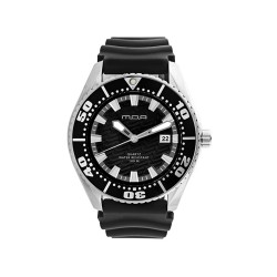 MOA COMPAGNON MEN'S BLACK ANALOG RUBBER WATCH KM754-1112   image here