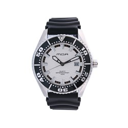 MOA COMPAGNON MEN'S BLACK / WHITE ANALOG RUBBER WATCH KM754-1111   image here