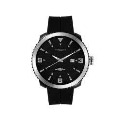 MOA AVELON MEN'S BLACK ANALOG RUBBER STRAP WATCH KM941-1102   image here