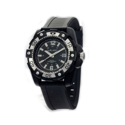 MOA SPUR MEN'S BLACK / BLACK ANALOG RUBBER WATCH KM637-3102   image here
