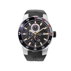 MOA METAMORPHIC CHRONOGRAPH MEN'S BLACK RUBBER WATCH KM683-1102   image here