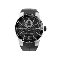 MOA METAMORPHIC CHRONOGRAPH MEN'S BLACK RUBBER WATCH KM683-1101   image here