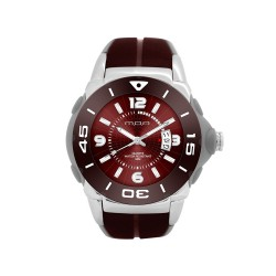 MOA ASTARI MAGNUS MEN'S BROWN / GREY / BROWN ANALOG RUBBER STRAP WATCH KM912-1102   image here