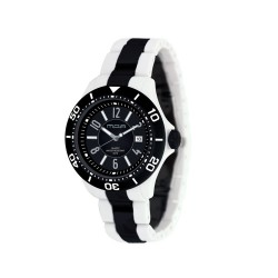 MOA PROVOQUE MEN'S WHITE / BLACK ANALOG PLASTIC WATCH KM709-1102   image here