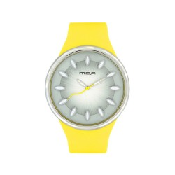 MOA FRUITY UNISEX YELLOW / GRAY ANALOG RUBBER STRAP WATCH KM890-1006 image here