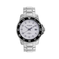 MOA STROMA MEN'S SILVER / WHITE ANALOG STAINLESS STEEL WATCH KM1647-1101  image here
