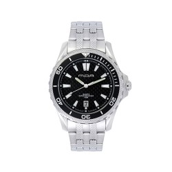 M.O.A MEN'S CARBON FIBER ZION ANALOG STAINLESS STEEL BLACK KM585-1102 WATCH  image here