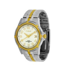 M.O.A MEN'S CENTRINO PAIR TWO-TONE STAINLESS STEEL WHITE KM586-1304 WATCH image here