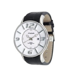 MOA MAJESTY MEN'S BLACK / WHITE ANALOG LEATHER WATCH KM662-1106 image here