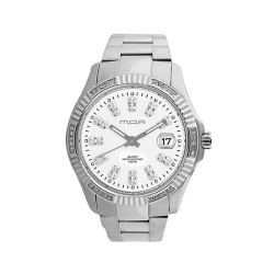 M.O.A MEN'S REIGENTE DE LUXE PAIR ANALOG STAINLESS STEEL WHITE KM729-1101 WATCH  image here