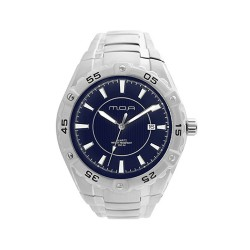 M.O.A MEN'S SPECTRA PAIR ANALOG STAINLESS STEEL NAVY BLUE KM746-1103 WATCH image here