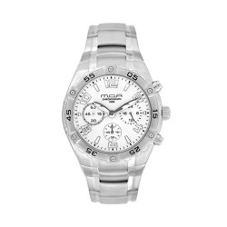 M.O.A MEN'S TACTICA MODE CHRONOGRAPH STAINLESS STEEL SILVER / OFF-WHITE KM748-1101 WATCH image here