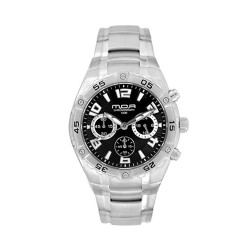 M.O.A MEN'S TACTICA MODE CHRONOGRAPH STAINLESS STEEL SILVER / BLACK KM748-1102 WATCH image here