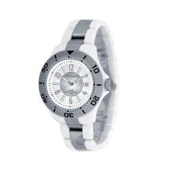 M.O.A MEN'S PROVOQUE ANALOG PLASTIC WHITE / SILVER KM709-1103 WATCH image here