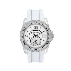 M.O.A LADIES' PEARLETTE ANALOG RUBBER WHITE KM715-1111 WATCH image here