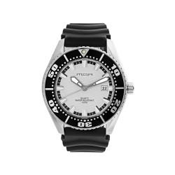M.O.A MEN'S COMPAGNON PAIR ANALOG RUBBER BLACK / WHITE KM754-9582 WATCH image here