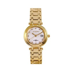 MOA AMBERLINE WOMEN'S GOLD / PINK MOTHER-OF-PEARL ANALOG STAINLESS STEEL WATCH KM877-2209 image here