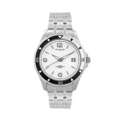 MOA DELTA MEN'S SILVER / WHITE ANALOG STAINLESS STEEL WATCH KM891-1101 image here