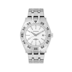 MOA NAVINATOR MEN'S SILVER / WHITE ANALOG STAINLESS STEEL WATCH KM898-1101 image here