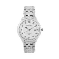 MOA PALAZIO PAIR MEN'S SILVER / WHITE ANALOG STAINLESS STEEL WATCH KM906-1102 image here