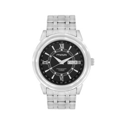 MOA CENTURIAN-CRYSTAL PAIR MEN'S SILVER / BLACK AUTOMATIC STAINLESS STEEL WATCH KM939-1102 image here