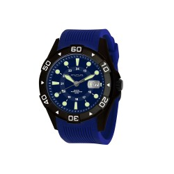 MOA META MEN'S BLUE / BLACK ANALOG RUBBER STRAP WATCH KM955-1403 image here