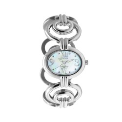 MOA MARQUESA WOMEN'S SILVER / BLUE MOTHER-OF-PEARL ANALOG STAINLESS STEEL WATCH KM958-2001 image here