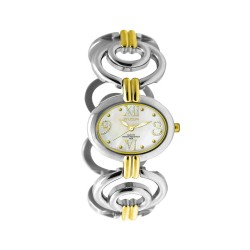 MOA MARQUESA WOMEN'S TWO-TONE / WHITE MOTHER-OF-PEARL ANALOG STAINLESS STEEL WATCH KM958-2308 image here