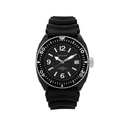 MOA STUCCO MEN'S BLACK / WHITE ANALOG RUBBER STRAP WATCH KM984-1101 image here