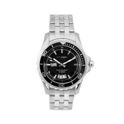 MOA ARMISTICE MEN'S SILVER / BLACK AUTOMATIC STAINLESS STEEL WATCH KM952-1102 image here