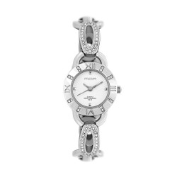 M.O.A LADIES' CONSORTIA ANALOG STAINLESS STEEL SILVER / OFF-WHITE KM1083-1108 WATCH image here